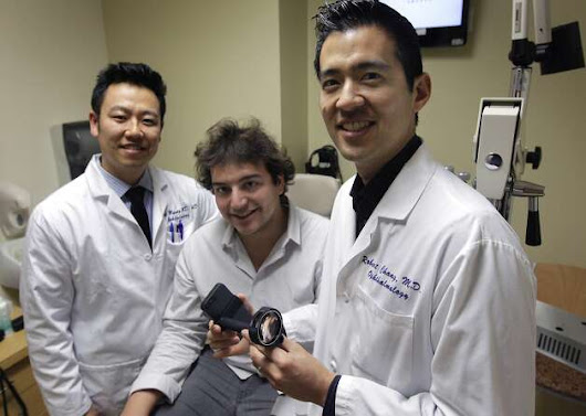 Phone adaptor gives doctors closer look at patients' eyes