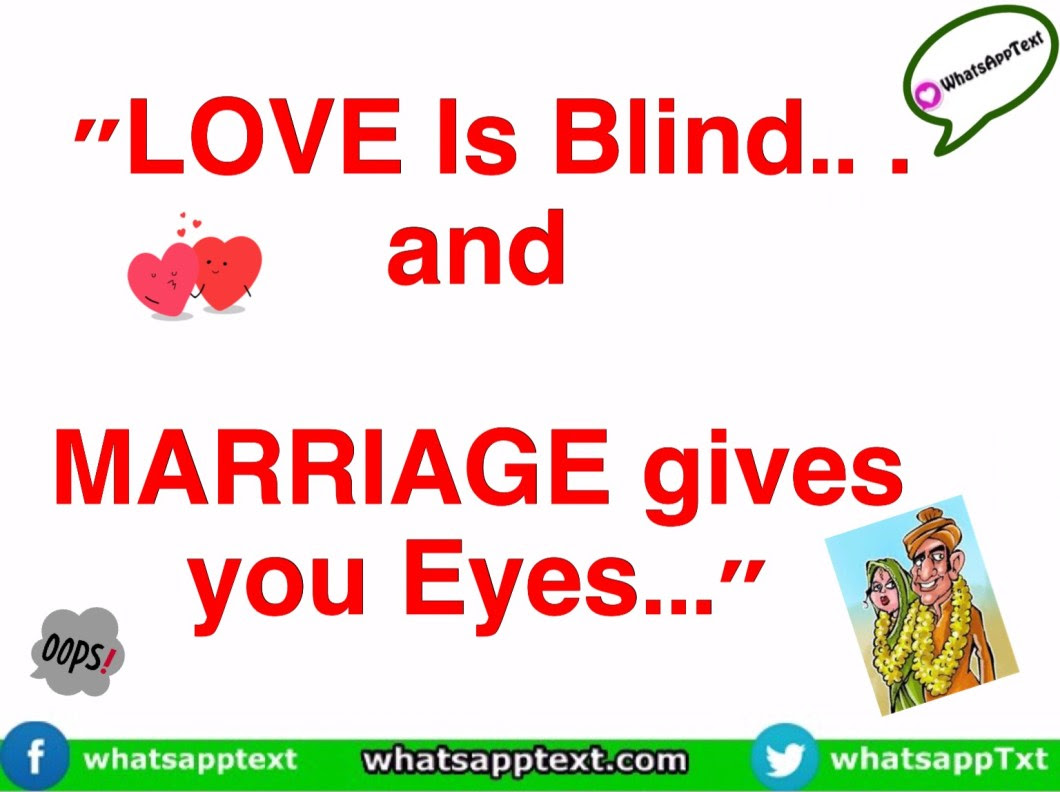 Quote on Love Marriage WhatsApp Text Jokes SMS Hindi Indian