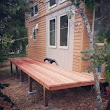 Tiny houses are better with folding redwood decks! | The Tiny Project | Mini Houses. More Life.