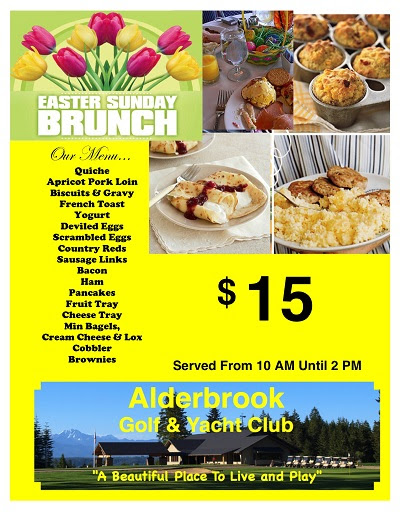 Join AGYC for Easter Brunch! - Alderbrook Golf Course