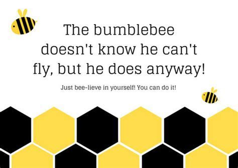 Yellow and Black Bee Inspiration Card   Templates by Canva