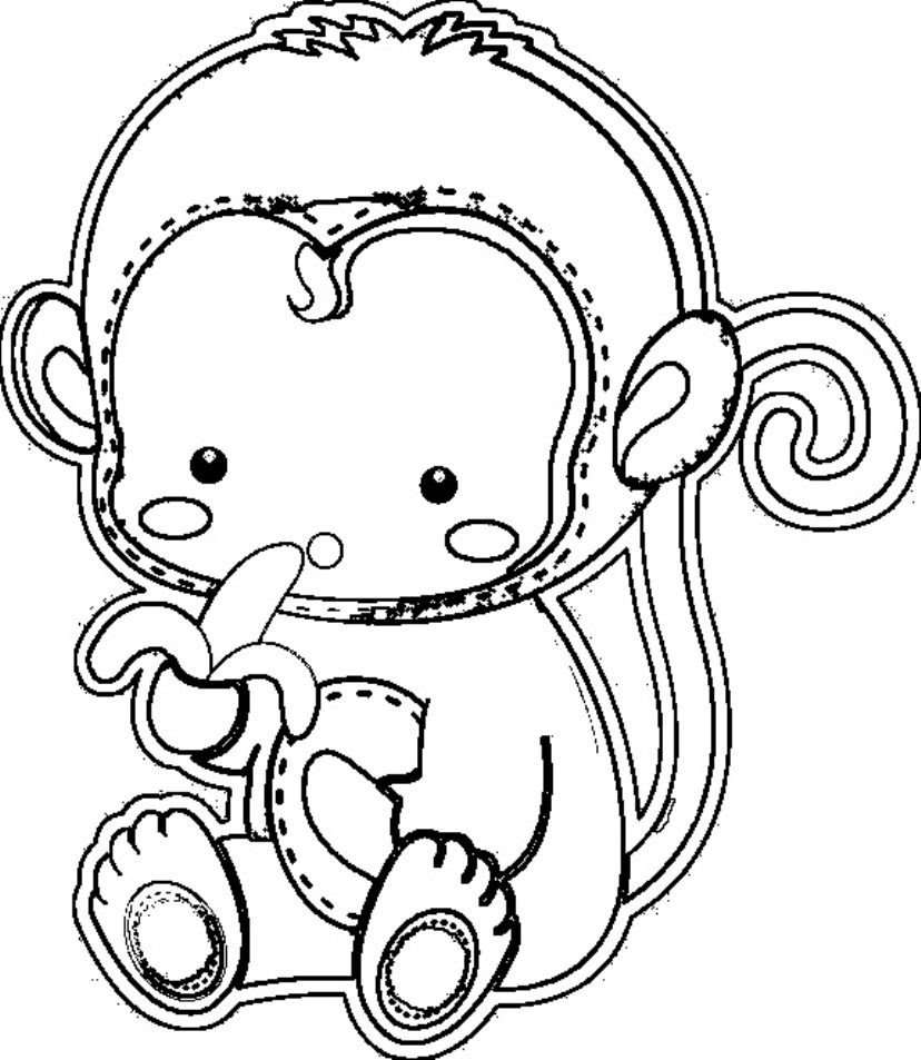 7200 Top Free Coloring Pages Of Cute Monkeys , Free HD Download