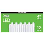 Feit LED 4FT Replacement Glass Tubes 12 Pack