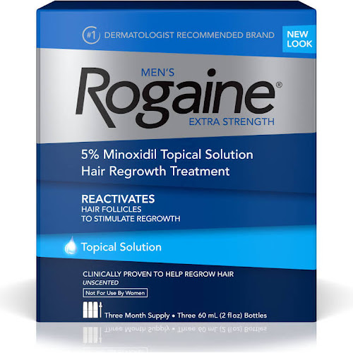 Rogaine Men's Hair Regrowth Treatment, Extra Strength, Unscented - 3 pack, 2 oz bottles