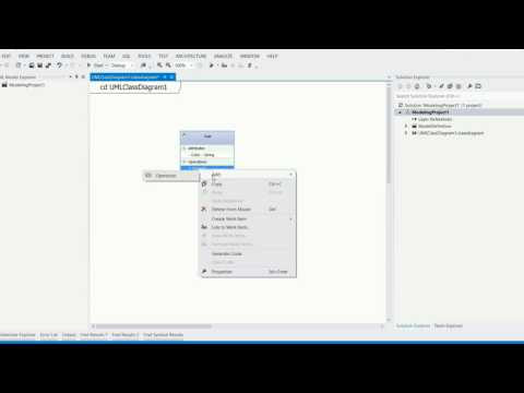 How to design UML class diagram and generate c sharp code using visual studio