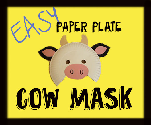 Paper Plate Cow Masks