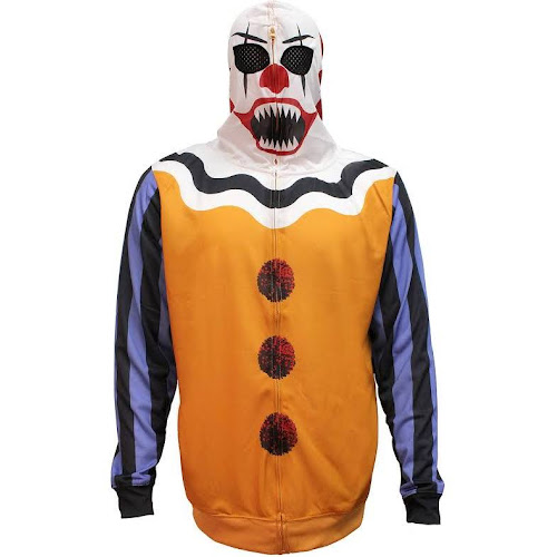 bioworld mens scary clown halloween costume hoodie small