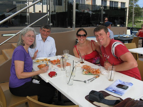 with the Rosenthals (and large prawns)