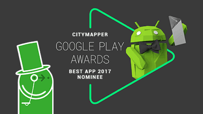 We're nominated by Google for Best App 2017!
