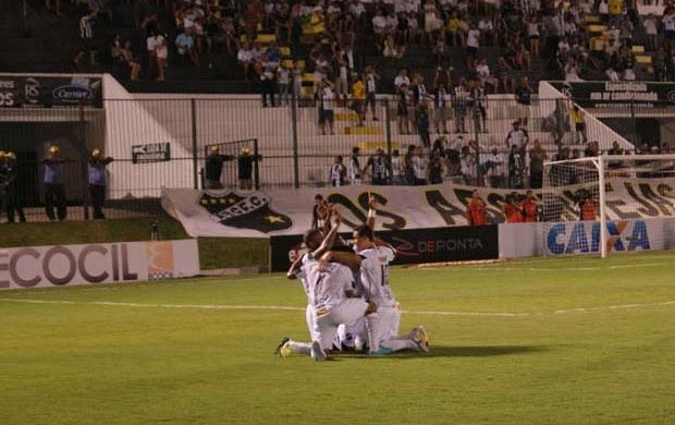 Gols do ABC foram marcados por Vanderlei, Renato, Rodrigo Silva e Edson (Foto: Augusto Gomes)