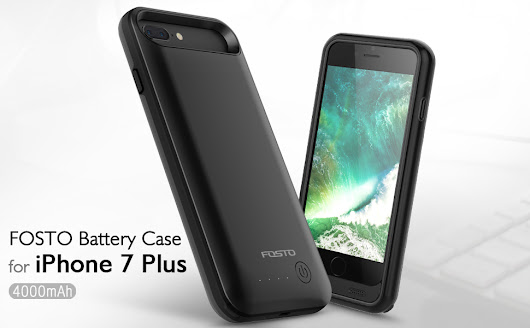 Amazon.com: iphone 7 Plus Battery Case, FOSTO Ultra Slim Portable Charger iphone 7 Plus Charging Case,4000mAh External Rechargeable Protective Power Juice Bank for iphone 7 Plus [ 5.5 inch] (Black): Cell Phones & Accessories