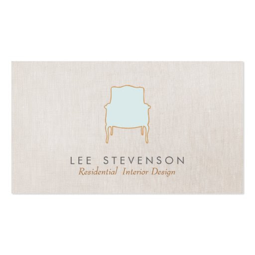 French Chair Interior Designer Business Card at Zazzle.