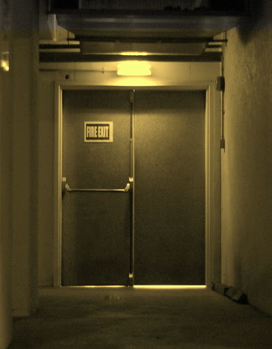 fire exit in the basement