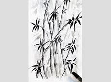 Sketsa Pohon Bambu