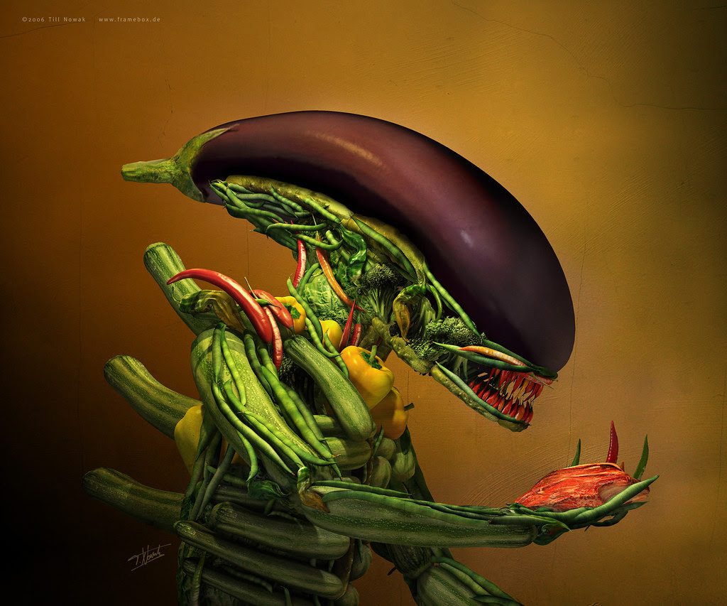 Till Nowak  - Salad (tribute to H.R Giger and Arcimboldo) 2006