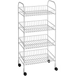 ClosetMaid 4-Tier Wire Utility Cart, White