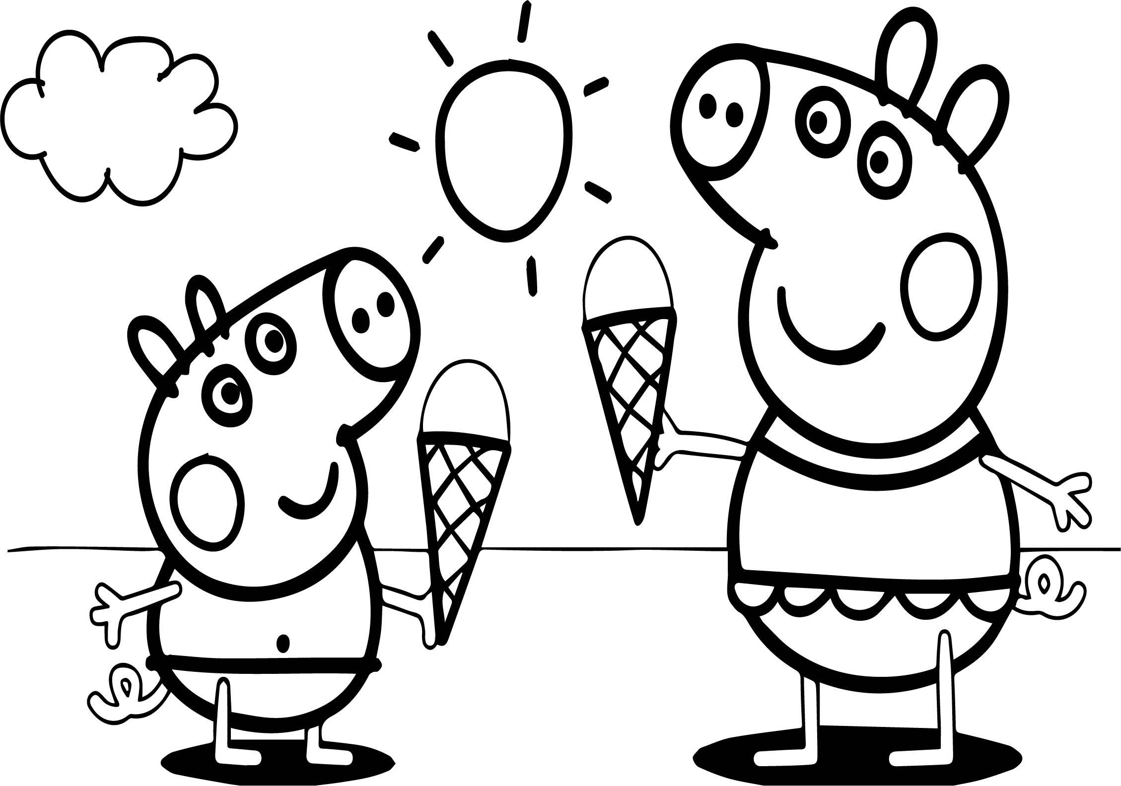 peppa wutz ausmalbilder kostenlos ausdrucken - zeichnen