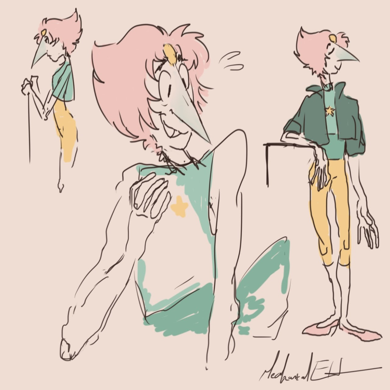 I'm still in love with her color palette………….