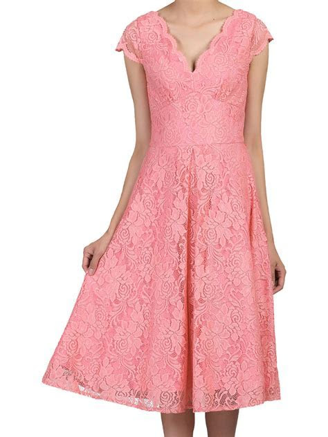 Jolie Moi Cap Sleeve Scalloped Lace Dress at John Lewis