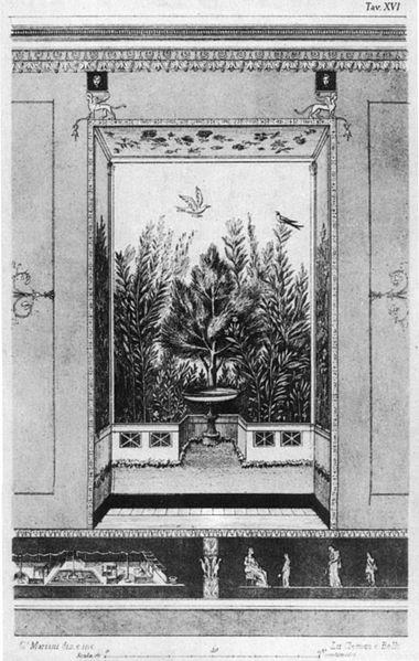 File:Disegno degli affreschi dell'auditorium mecenatis, 1874 circa.jpg