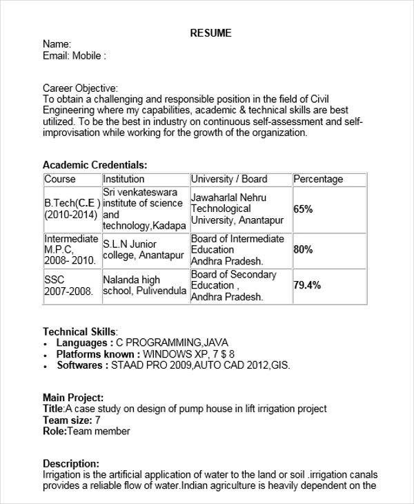Iti Fitter Resume Format Pdf Download Best Resume Examples