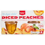 No Sugar Added Diced Peaches Fruit Cups 4ct - Market Pantry