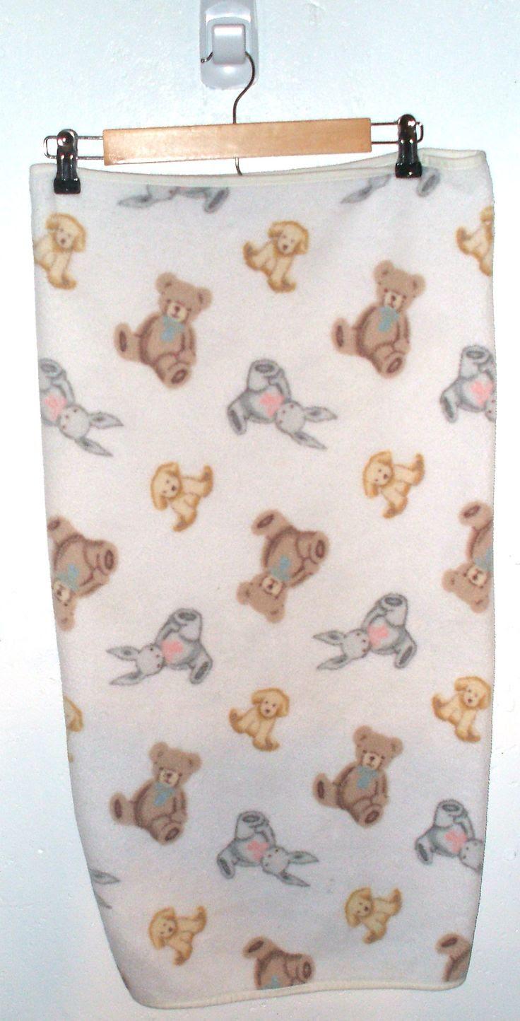 Carters Bunny , Rabbit , Dog Fleece Baby Blanket   Oh Baby!