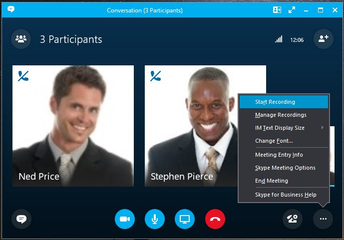 video conference skype for business