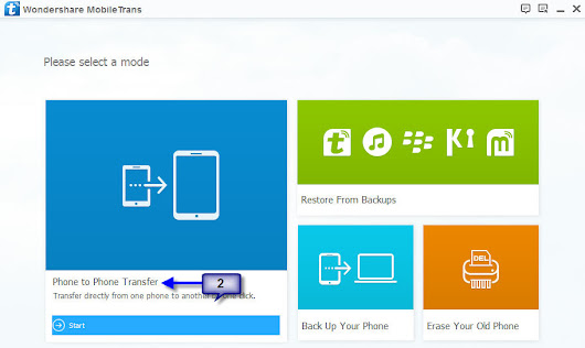 Wondershare MobileTrans - An All-in-One Mobile Phone Data Transfer Software