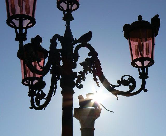 Lion, Lamp and Sunburst