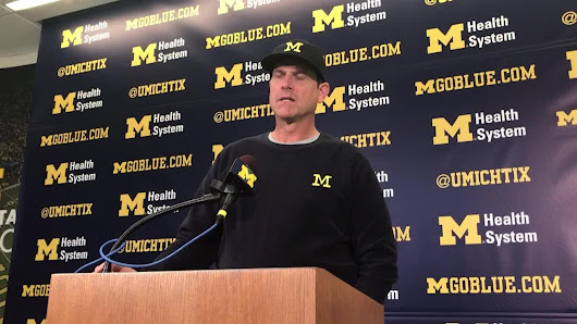 Michigan football coach Jim Harbaugh: 'It's awesome' Devin Bush has his dad on staff