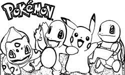 çoklu Pokemon Boyama Sayfası