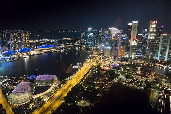 Equinox Restaurant Singapore Night View
