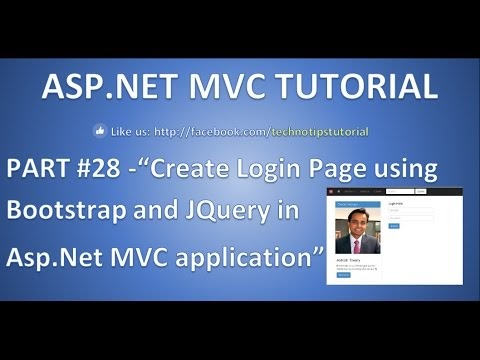 TechnoTips : Part 28 - Create Login Page using Bootstrap and JQuery