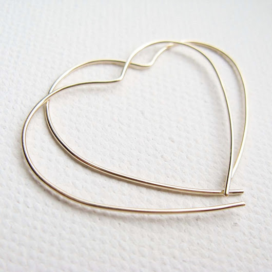 Gold Open Heart Hoop