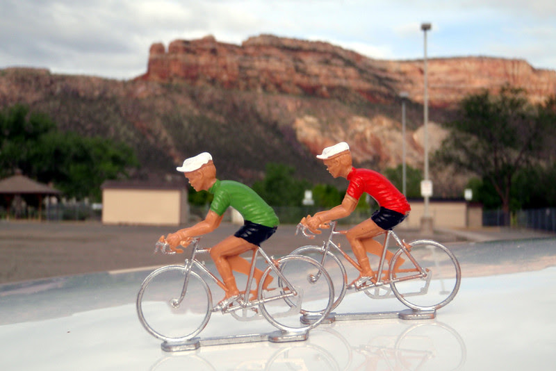 Dieter and Wolfgang preparing to ride the Colorado National Monument.