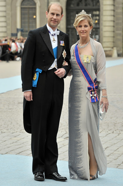 Prince Edward and Princess Sophie - Wedding Of Swedish Crown Princess Victoria & Daniel Westling - Arrivals