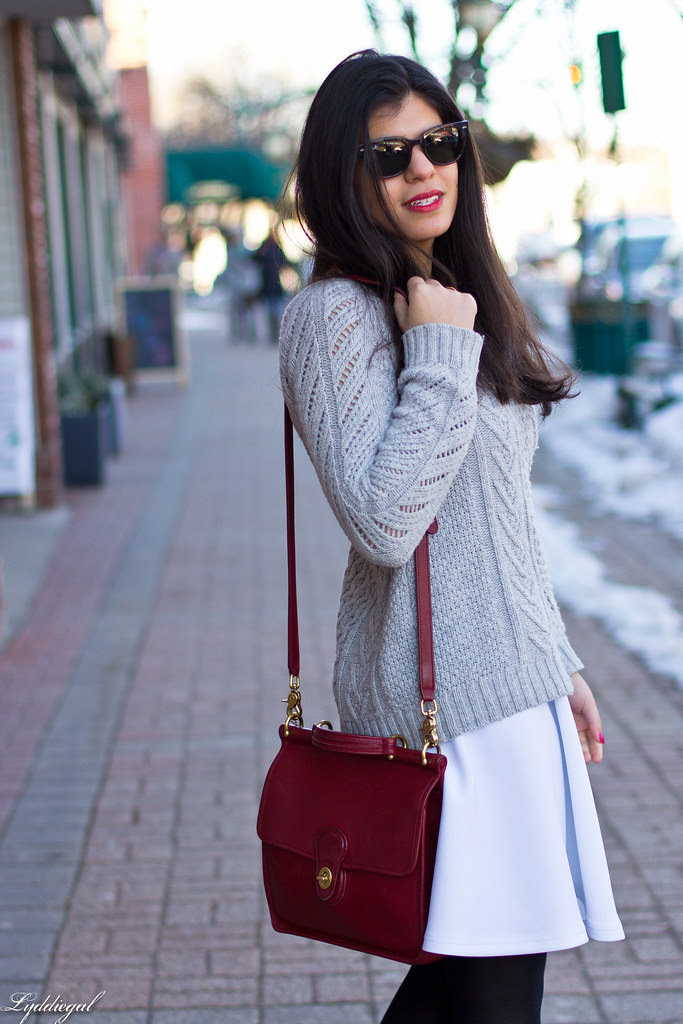 white skirt, grey sweater, red bag-1.jpg