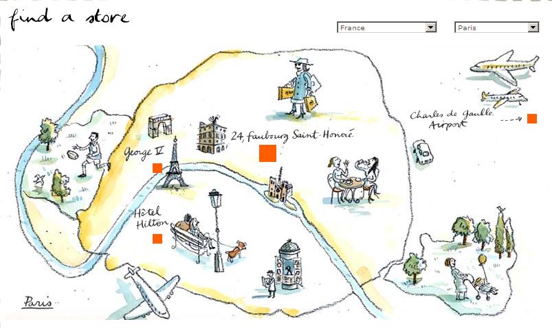 エルメスhermesのホームページの世界地図がすごい 駄文と書評
