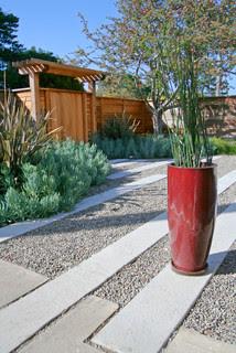 Modern Revival contemporary landscape