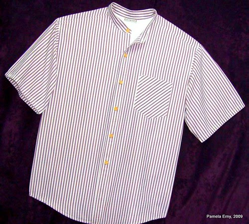 Mens Stripe Shirt Front