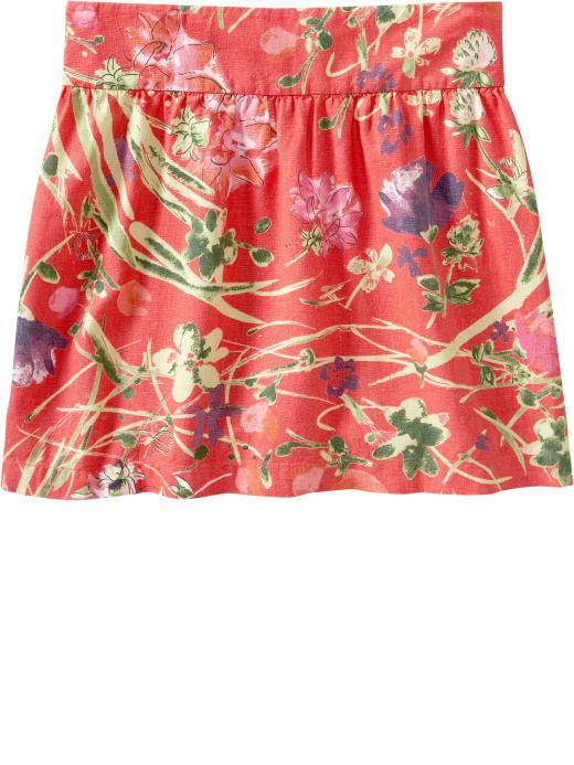 Old Navy Womens Floral Linen-Blend Skirts