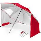 Sport Brella All Weather Portable Sun Tent Shelter Umbrella Canopy, Red, 8'