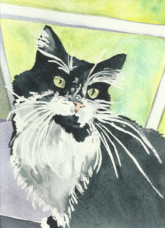 Cats Painted In Watercolor Day 22 September 2016 -