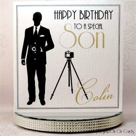 Luxurious Birthday Card   Man with Camera