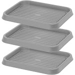 Iris USA SHT-S Shoe Tray, 3 Pack, Small, Gray