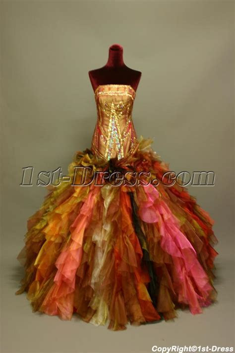 Super Gorgeous Multi Colored Puffy Colorful Quinceanera