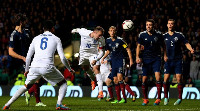 football england scotland vs rooney parkhead riot runs