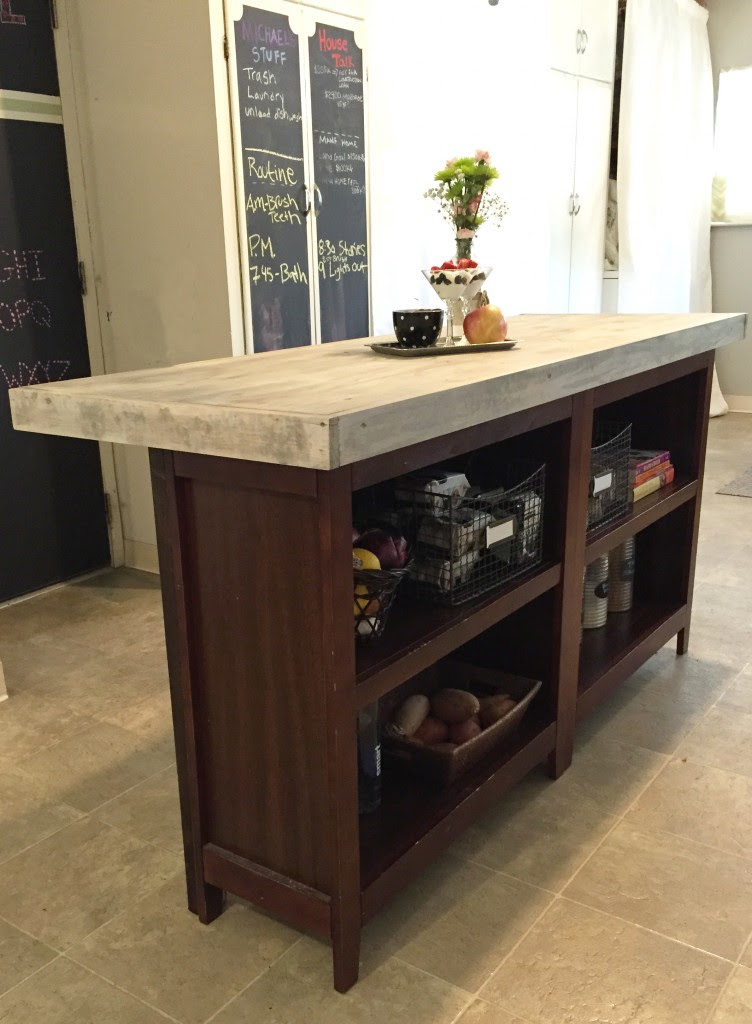 DIY Kitchen Island from Bookcases - JLM Designs