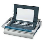 Manual Comb Binding Machine- 20-.88in.x17-.75in.x6-.50in.- Gray SU127468